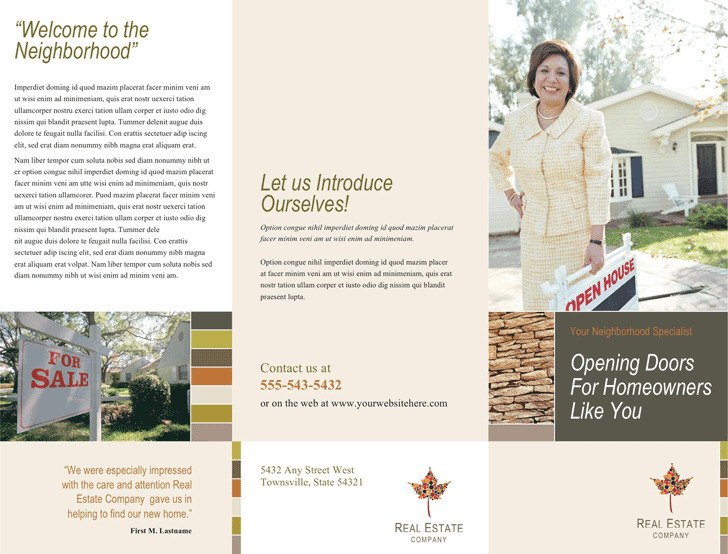 Real Estate Brochure 1