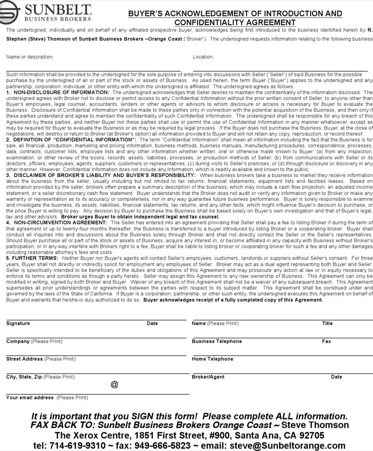 Sample Real Estate Confidentiality Agreement Lease Agreement With