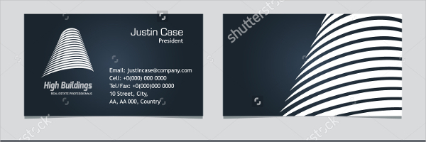 Real Estate Contractor Business Card Template