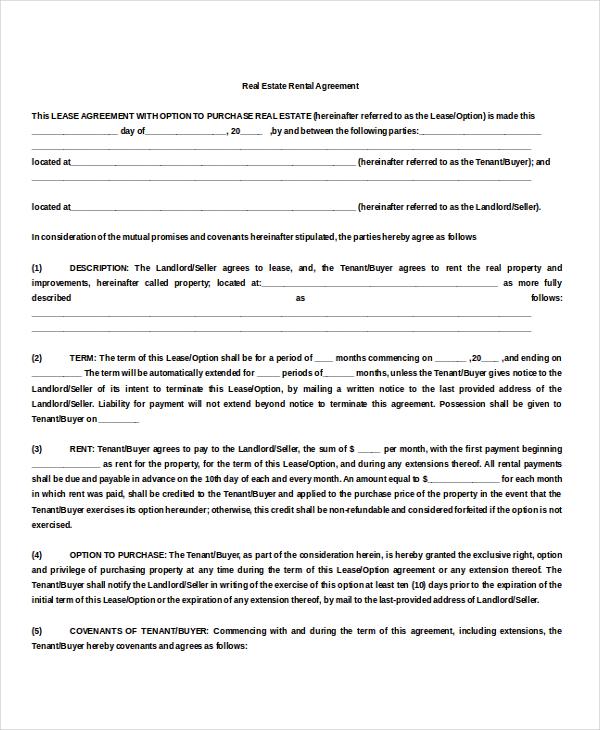 property rental agreement templates download free premium templates forms samples for. Black Bedroom Furniture Sets. Home Design Ideas