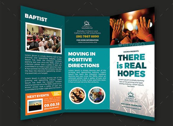 Real Hopes Church PSD Trifold Brochure - $8