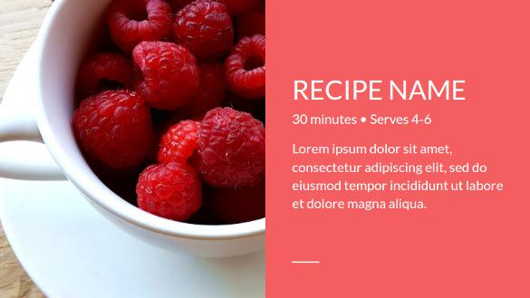 Recipe Book Google Slide Template