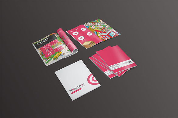 Recruitplus Corporate Professional Brochure Design