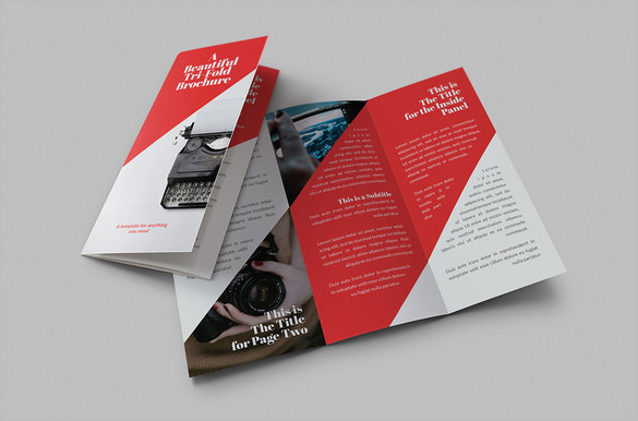 Red Colour Google Brochure Template-$8