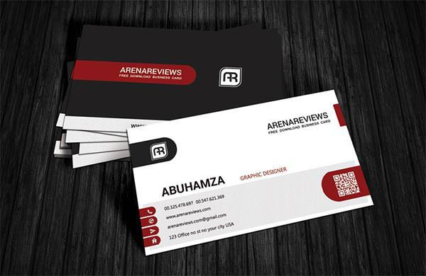 Red Corporate Business Card Template