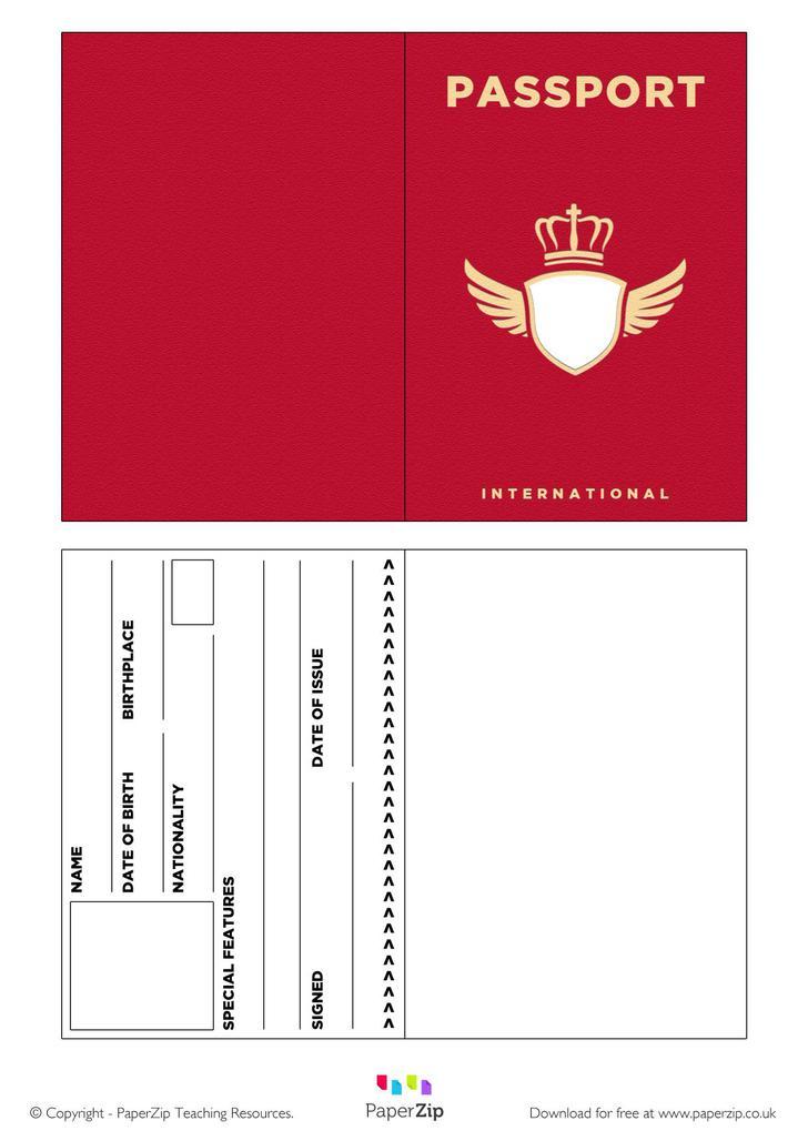 Red Passport Template