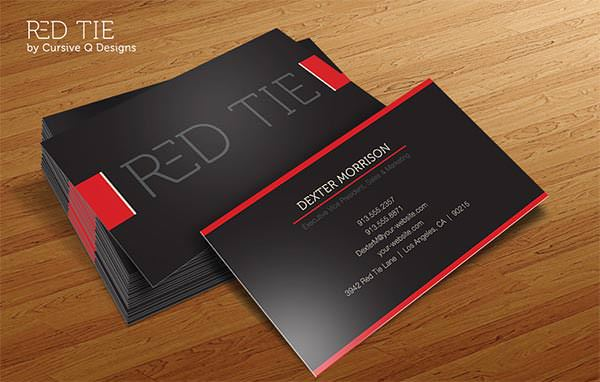 Red Tie Business Card Template