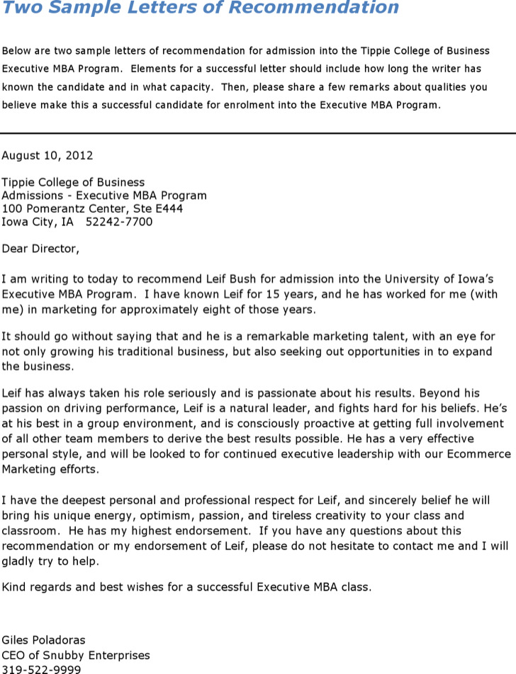 Sample College Reference Letter Templates  Download Free