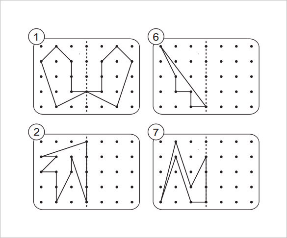 Reflective Symmetry Worksheet for Year 5