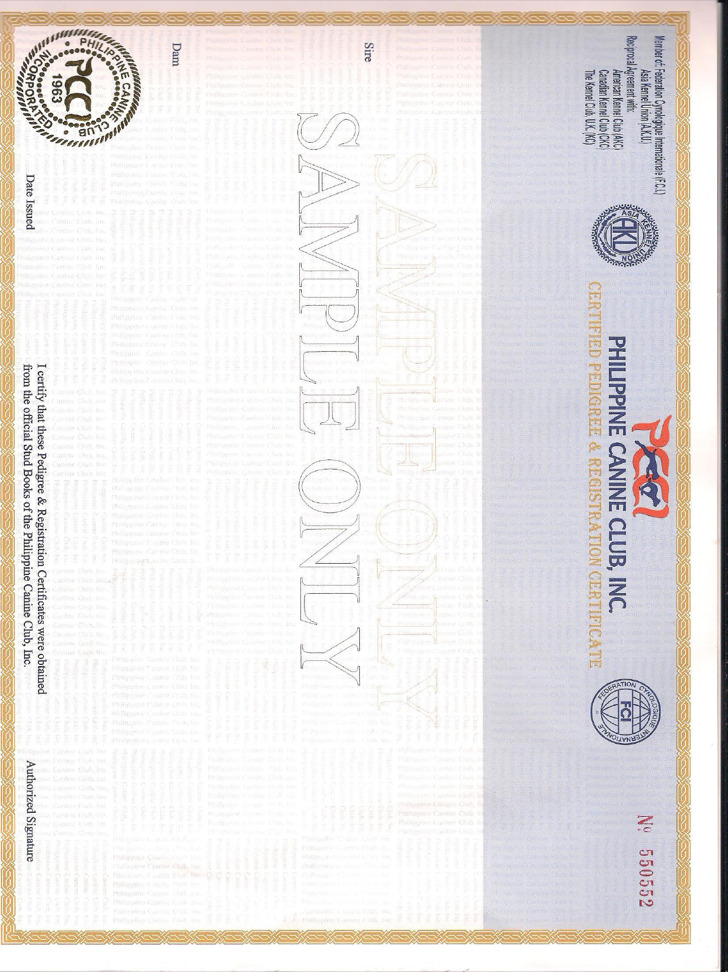 Registration Certificate Of Dog