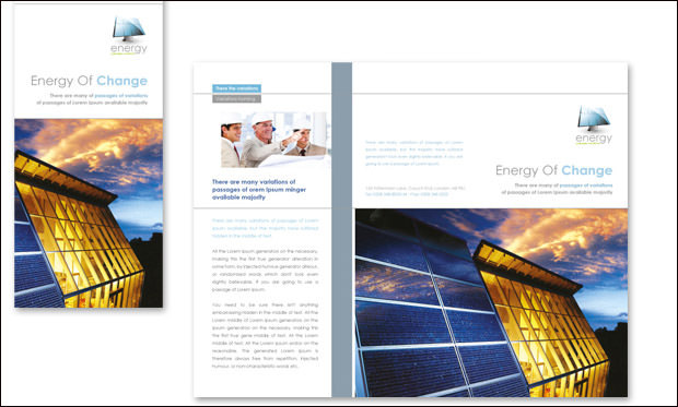 Renewable energy consulting template