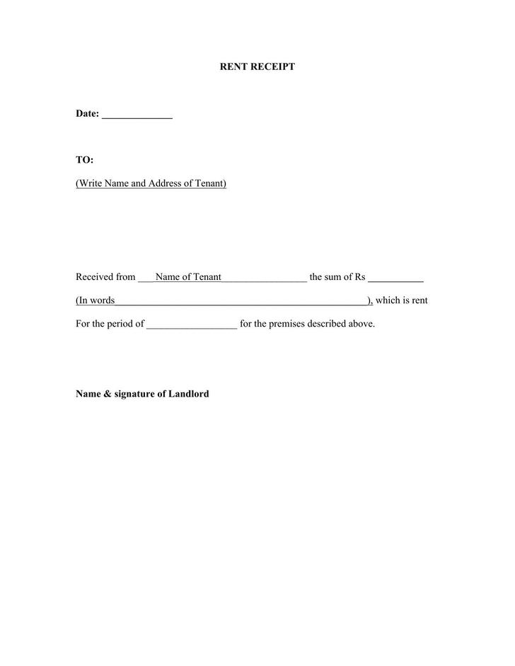 Rent Receipt Free Word Download