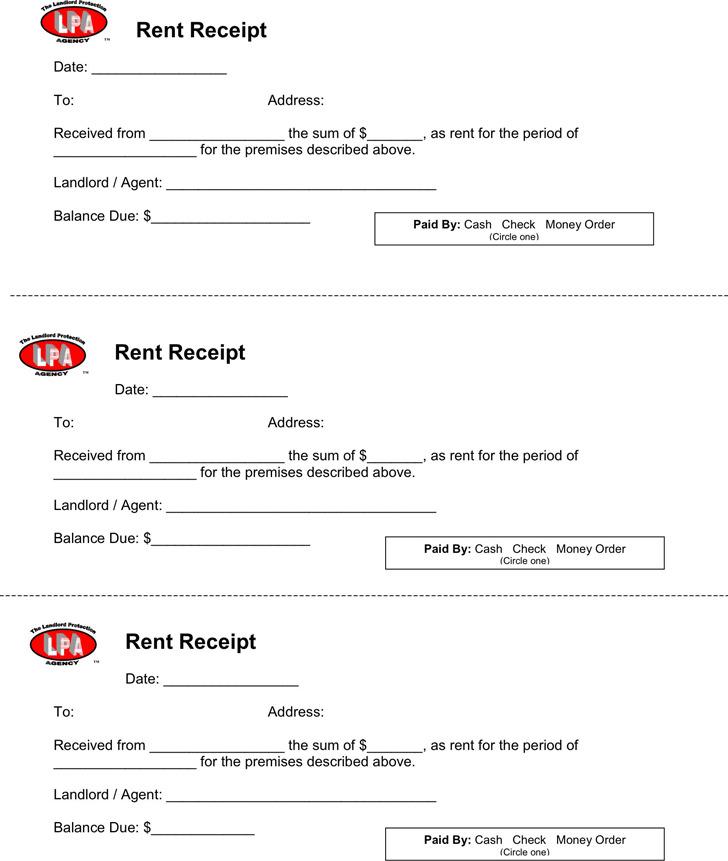 Rent Receipt Template1