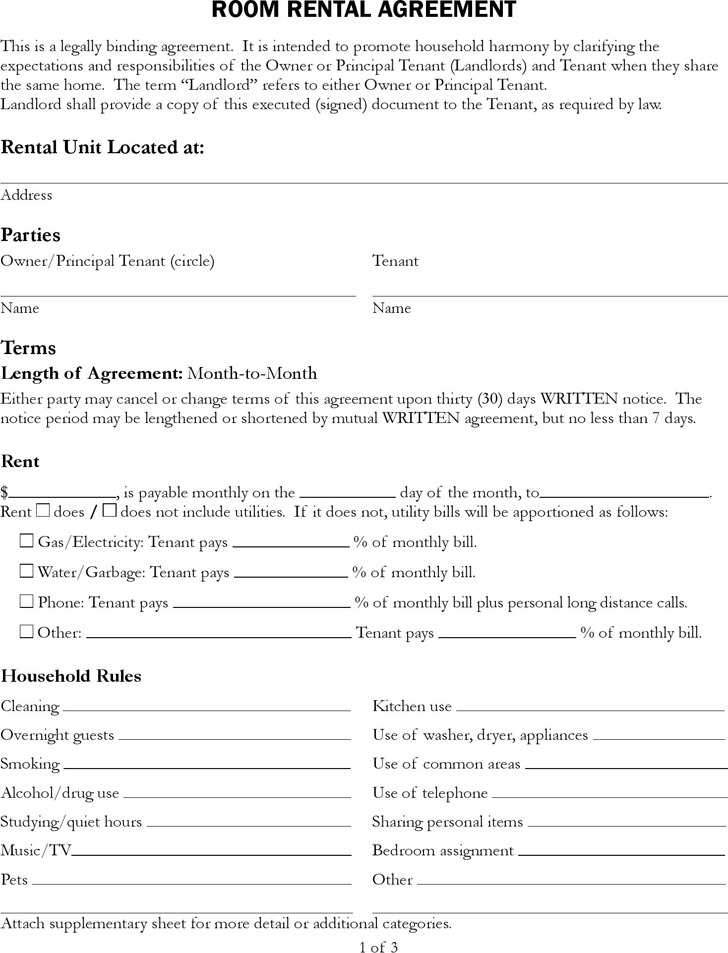 Rental Contract Template | Download Free & Premium Templates