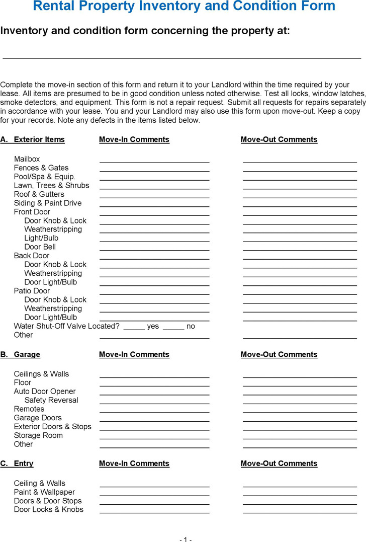 Inventory Form Template. Library Record Inventory Form Template