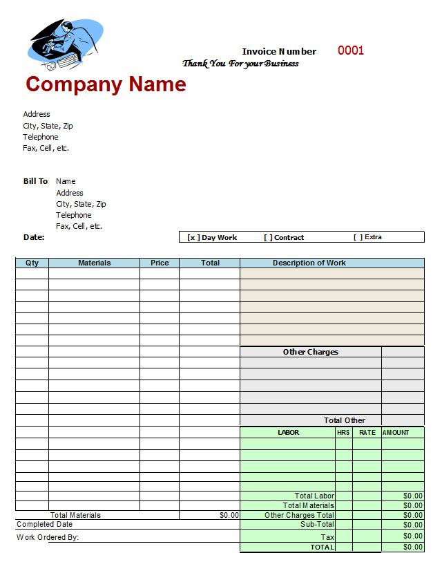 Repair Estimate Order Form Template