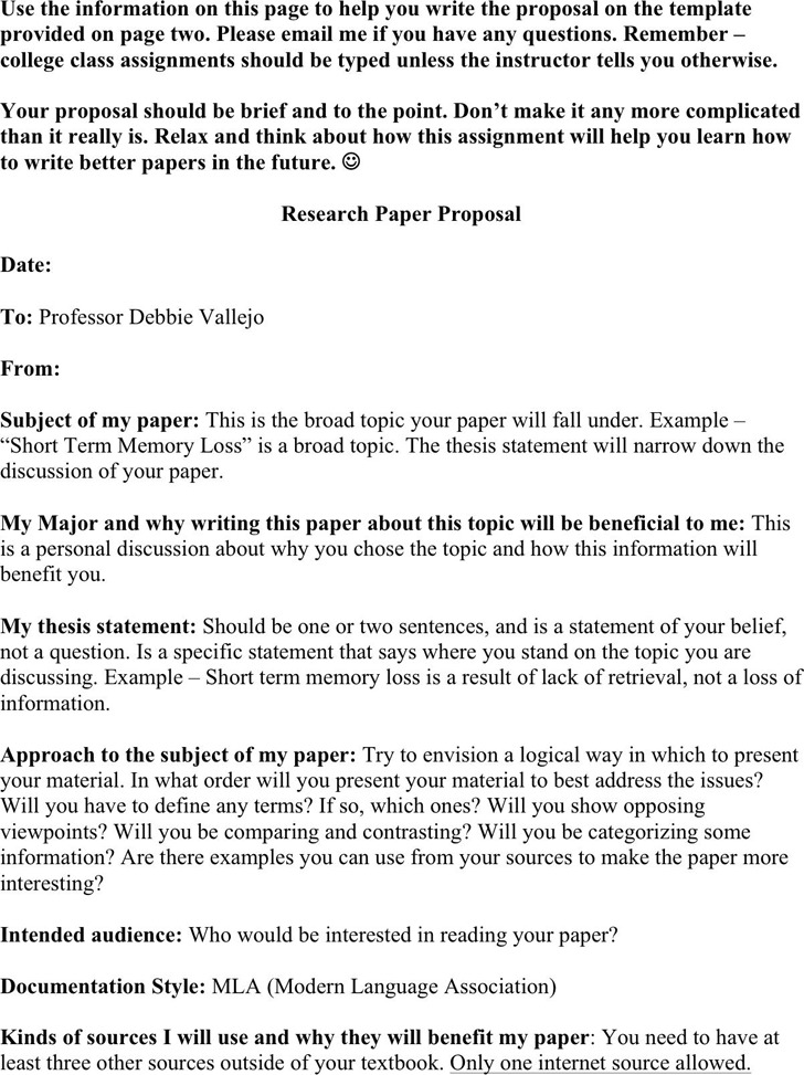 Research Paper Proposal  Download Free  Premium Templates Forms  Research Paper Proposal Template