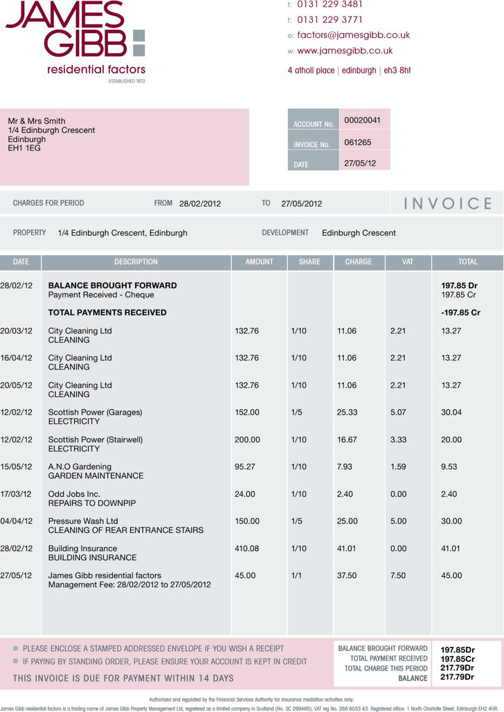 Residential Cleaning Invoice Template