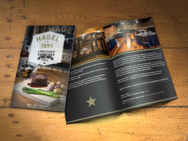 Restaurant Bi-Fold Brochure Template