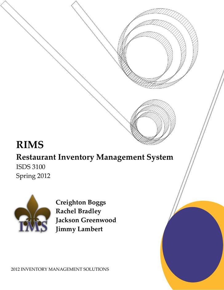 Restaurant Inventory Management System Free PDF Template