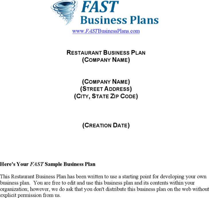 Restaurant Manager Business Plan Resume