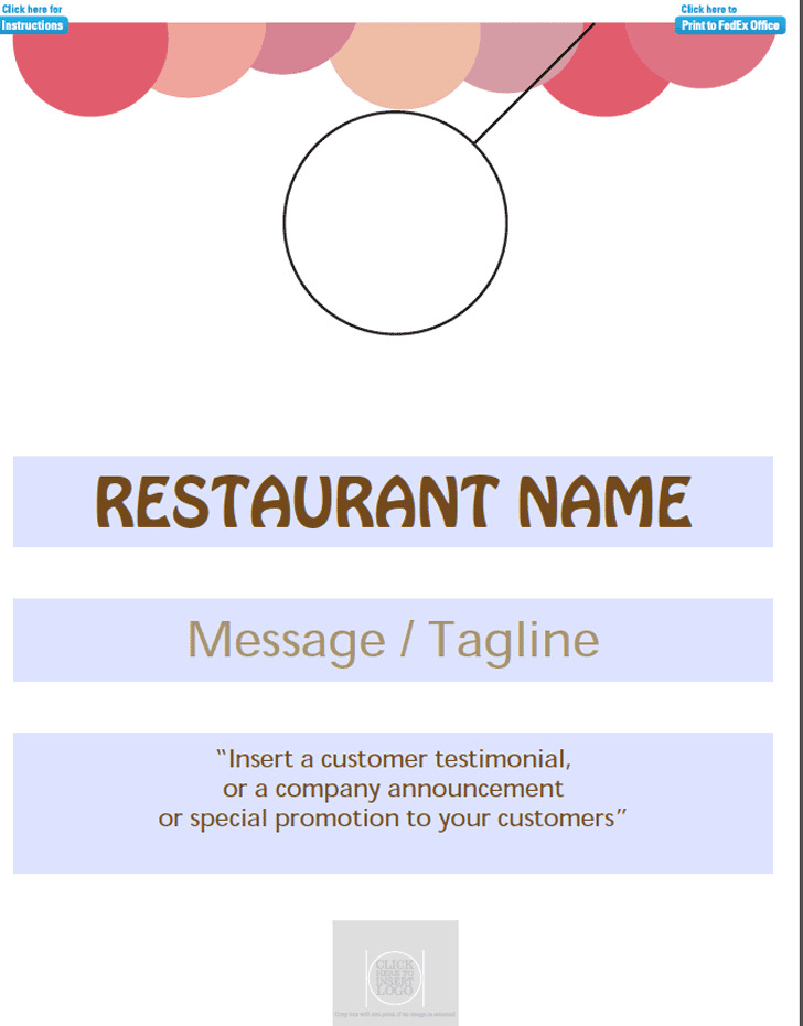 Restaurants Door Hanger Template  Download Free  Premium Templates