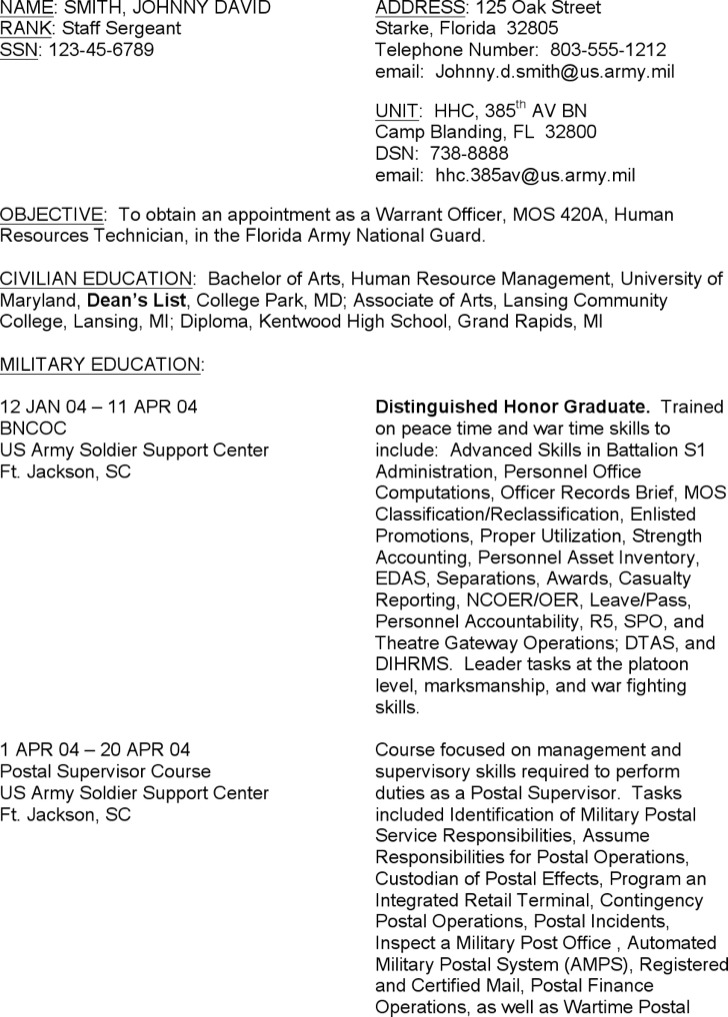 Resume Examples Army Resume Builder Military Resume Examples By