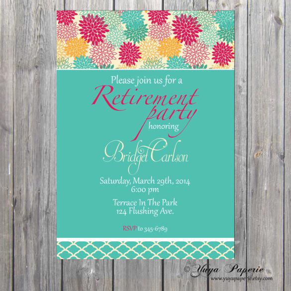 Retirement Invitation Professionally Printed