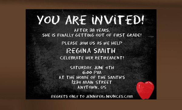 Retirement Party Invitation Template Free Download  Format For Invitation