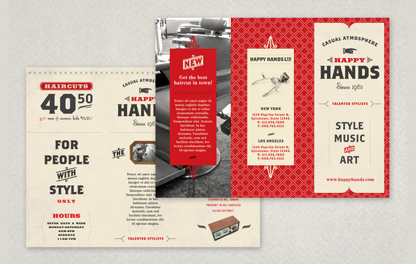 Retro Barbershop Brochure Template