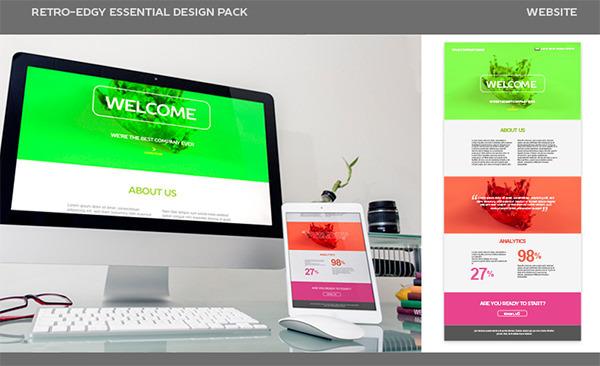 RETRO-EDGY WEBSITE DESIGN