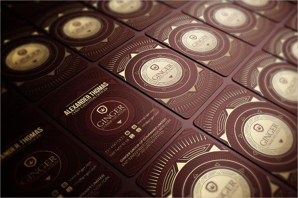 Retro Gold Foil Business Card