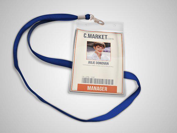 Retro ID Card PSD Template