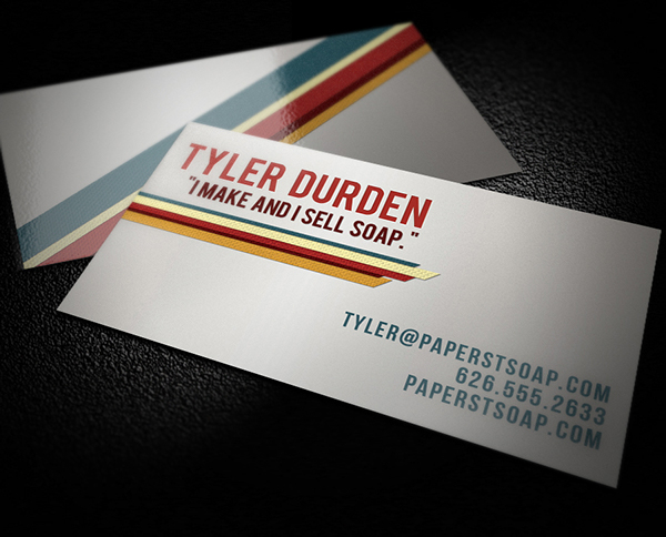 Retro Military Business Card Template