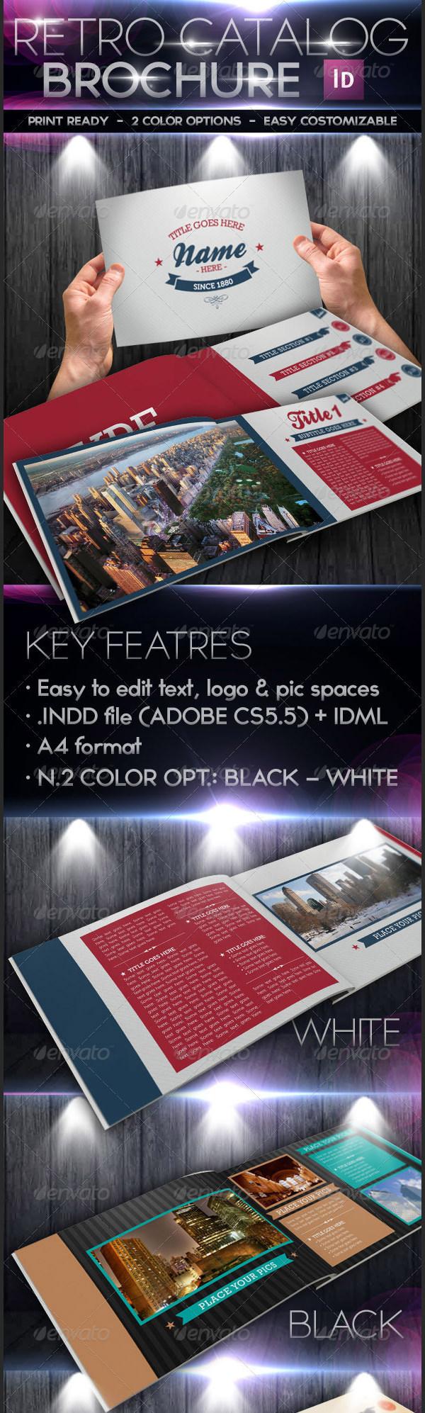 Retro Style Catalog Marketing Brochure