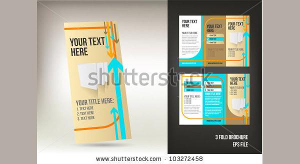 retro three fold brochure template