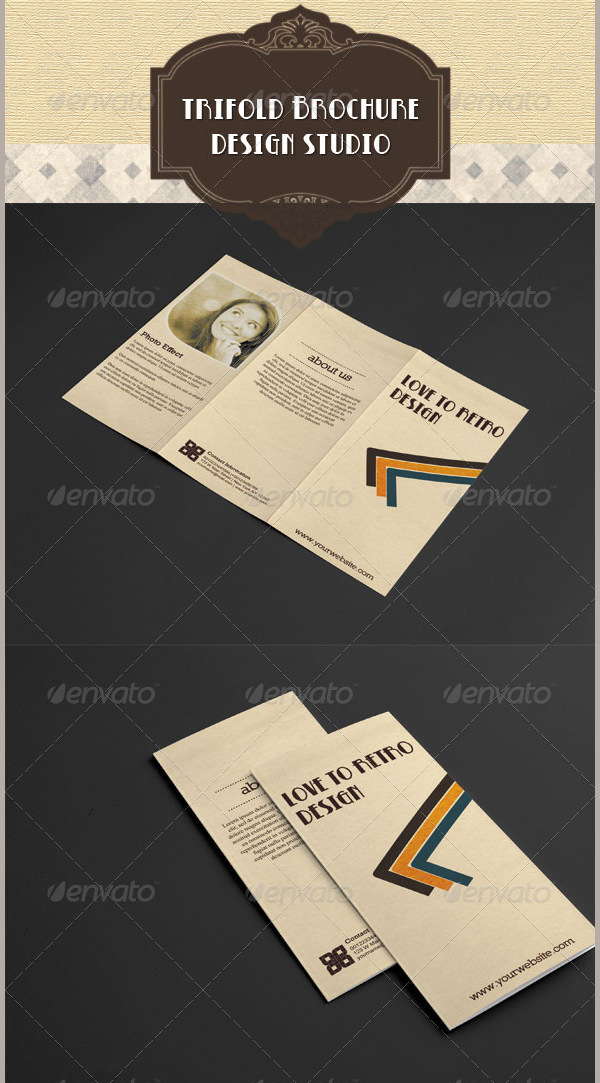 Retro Trifold Brochure