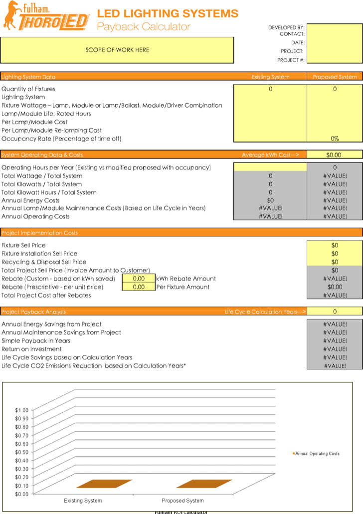 lighting payback calculator excel. Black Bedroom Furniture Sets. Home Design Ideas