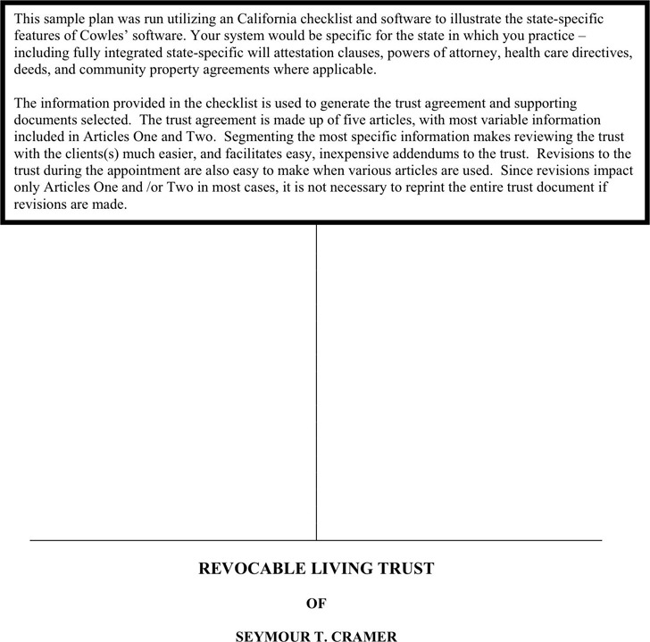 Living Trust Form  Download Free  Premium Templates Forms