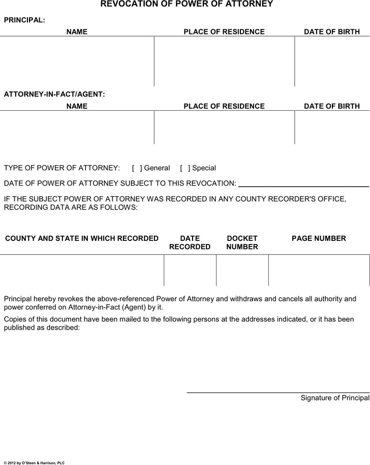 General Power Of Attorney Form  Download Free  Premium Templates