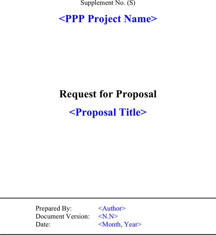 Rfp Template  Download Free  Premium Templates Forms  Samples