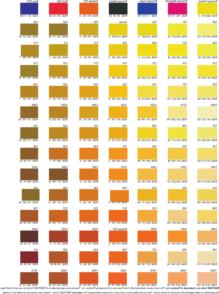 Color Chart Template – Color Chart Template