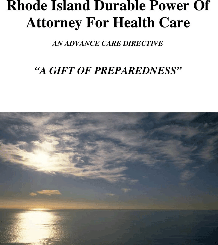 Rhode Island Power of Attorney For Health Care