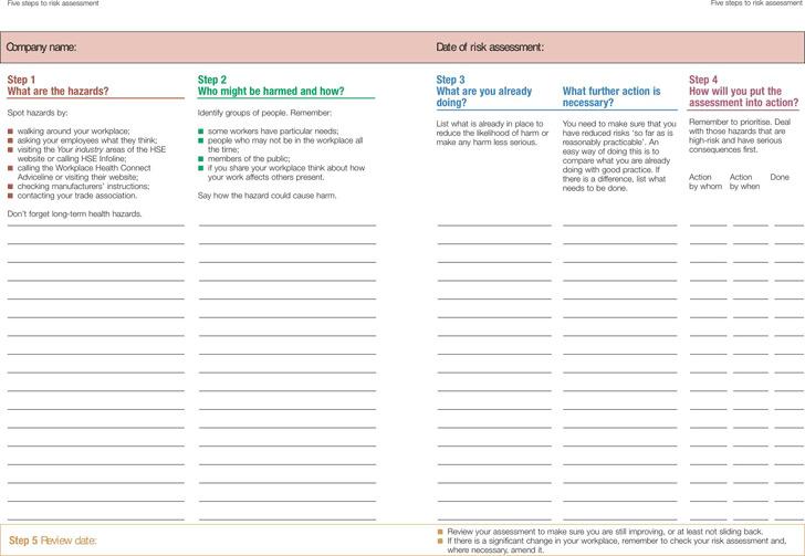 Risk Assessment Template 1