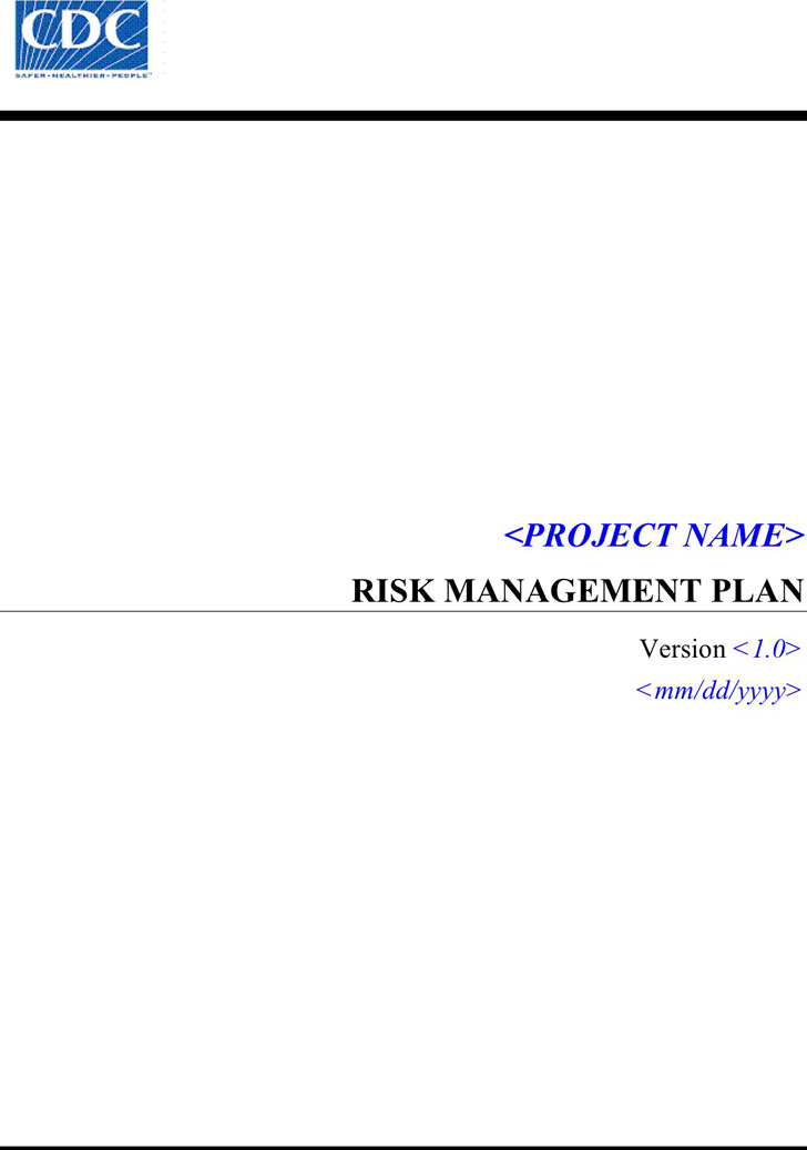 Risk Management Plan Template  Download Free  Premium Templates