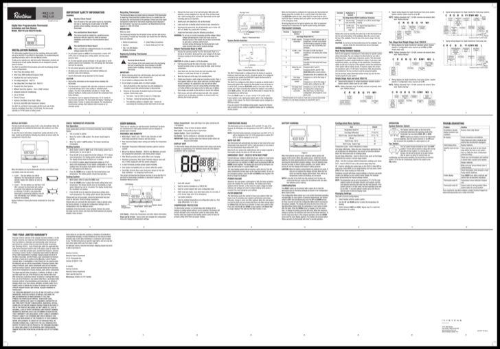Robertshaw User's Manual Sample