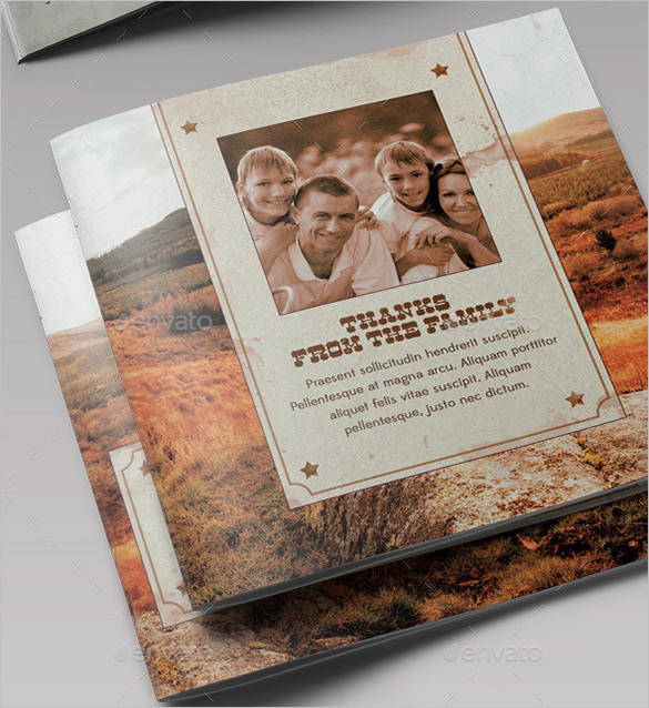Rocky Mountain Funeral Program Brochure Template