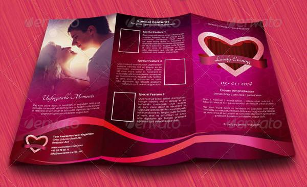 Romantic Valentine Trifold Brochure
