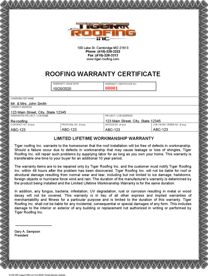 Warranty Certificate Templates Download Free Amp Premium