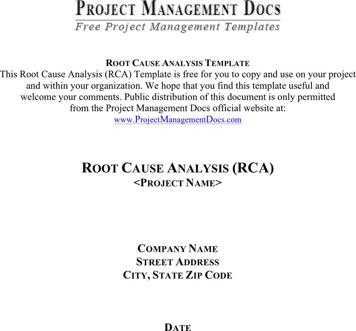 Root Cause Analysis Template | Download Free & Premium Templates ...